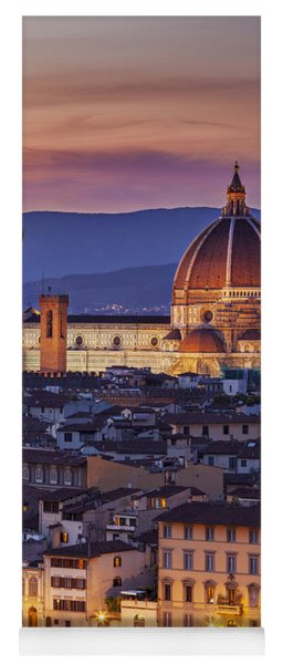 Yoga Mat featuring the photograph Florence Duomo by Brian Jannsen