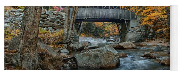 Flume Gorge Covered Bridge Yoga Mat