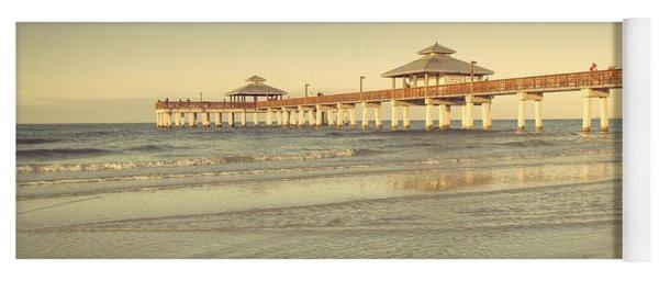 Fort Myers Beach Pier Yoga Mat