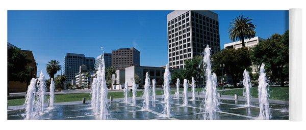Fountain In A Park, Plaza De Cesar Yoga Mat
