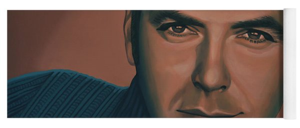 George Clooney Painting Yoga Mat