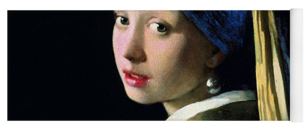 Girl With A Pearl Earring Yoga Mat