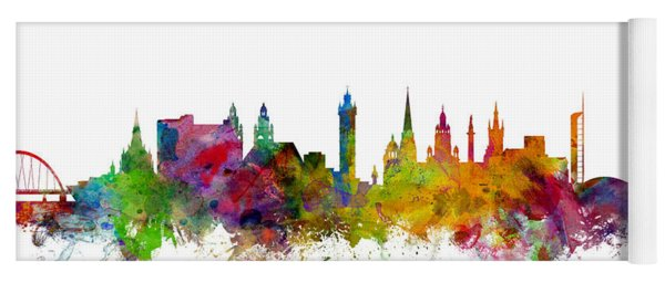 Glasgow Scotland Skyline Yoga Mat