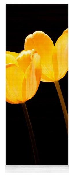 Glowing Tulips II Yoga Mat