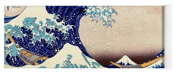 Great Wave Off Kanagawa Yoga Mat