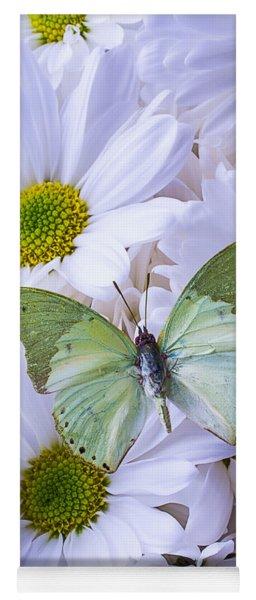 Green Butterfly  Yoga Mat