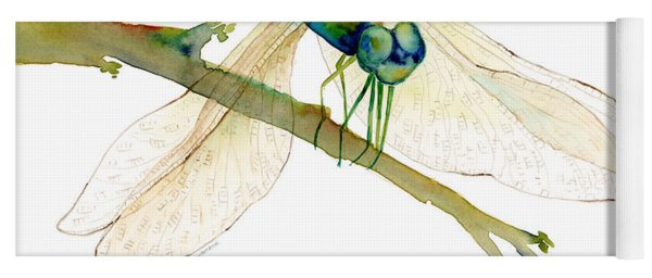 Green Dragonfly Yoga Mat