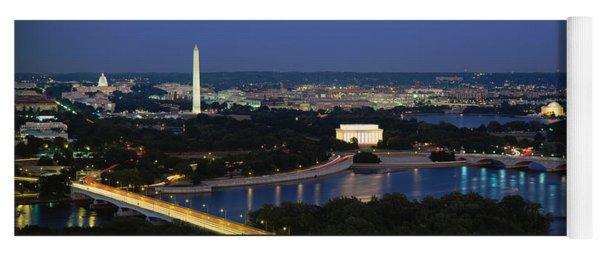 High Angle View Of A City, Washington Yoga Mat