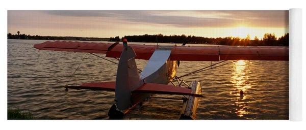 High Angle View Of A Sea Plane, Lake Yoga Mat