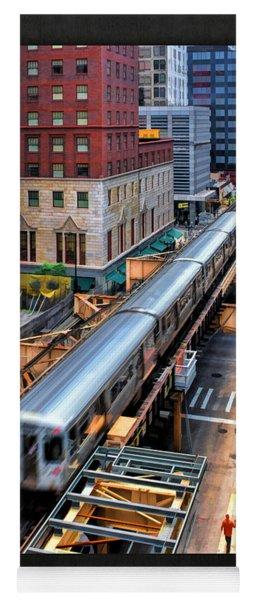 Historic Chicago El Train Poster Yoga Mat