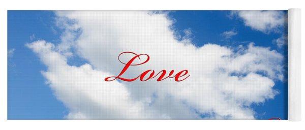 1 I Love You Heart Cloud Yoga Mat
