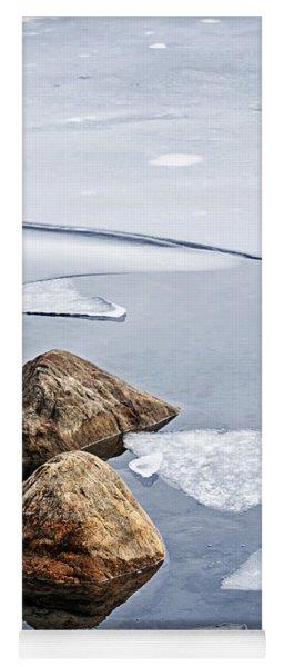 Icy Shore In Winter Yoga Mat