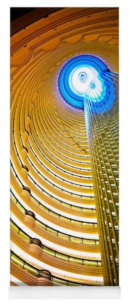 Interiors Of Jin Mao Tower Looking Yoga Mat