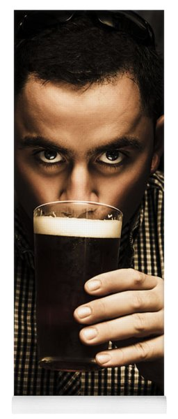 Irish Man Drinking Beer On St Patricks Day Yoga Mat