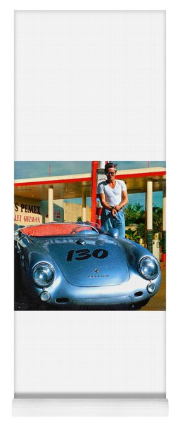 James Dean Filling His Spyder With Gas Yoga Mat