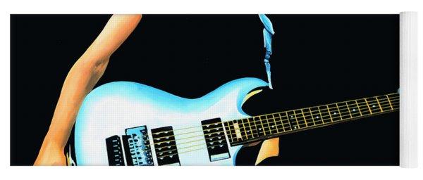 Joe Satriani Painting Yoga Mat