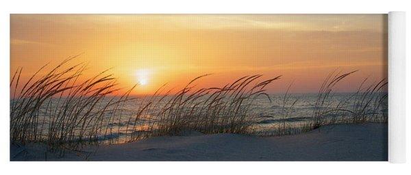Lake Michigan Sunset Panorama Yoga Mat