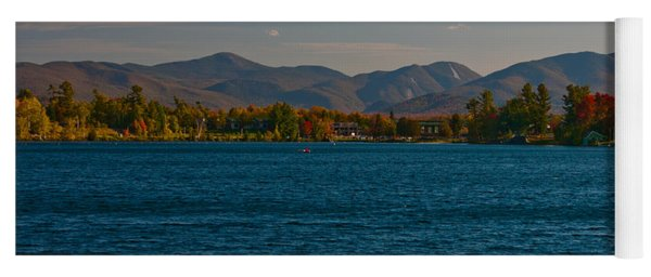 Lake Placid And The Adirondack Mountain Range Yoga Mat