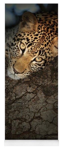 Leopard Portrait Yoga Mat