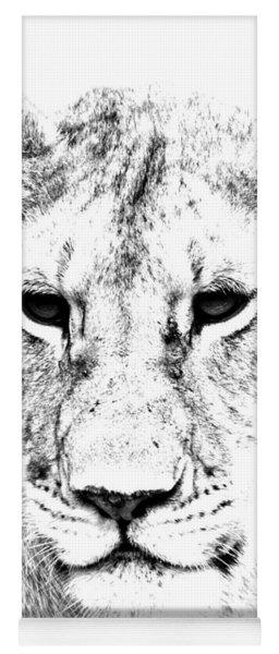 Lion Portrait Yoga Mat