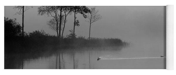 Loch Ard Trees In The Morning Mist Yoga Mat