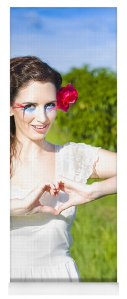 Love Heart Sign Yoga Mat