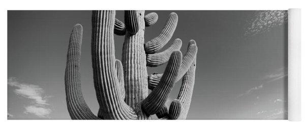 Low Angle View Of A Saguaro Yoga Mat