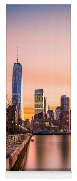 Lower Manhattan At Sunset Yoga Mat