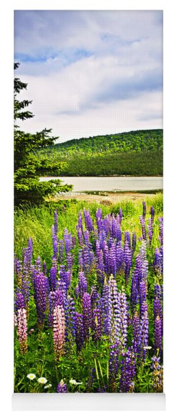 Lupin Flowers In Newfoundland Yoga Mat