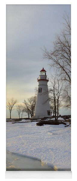 Marblehead Lighthouse Winter Sunrise Yoga Mat