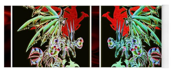 Mech Dragons Pastel Yoga Mat