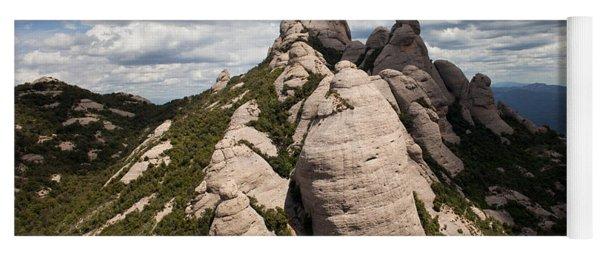 Montserrat Mountain In Spain Yoga Mat