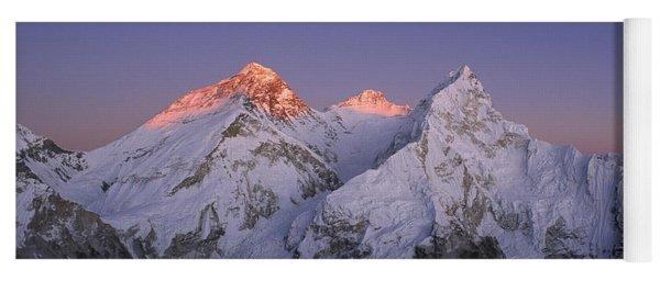 Moon Over Mount Everest Summit Yoga Mat