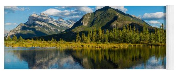 Mount Rundle And Sulphur Mountain Yoga Mat