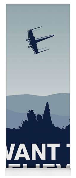 My I Want To Believe Minimal Poster-xwing Yoga Mat