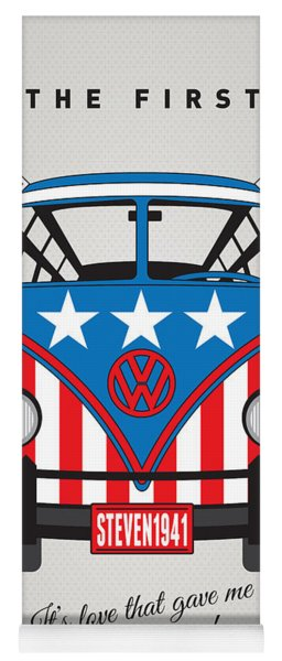 My Superhero-vw-t1-captain America	 Yoga Mat
