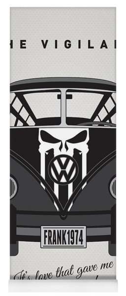 My Superhero-vw-t1-punisher Yoga Mat