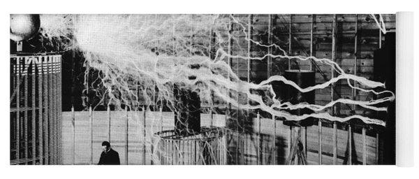 Nikola Tesla Serbian-american Inventor Yoga Mat
