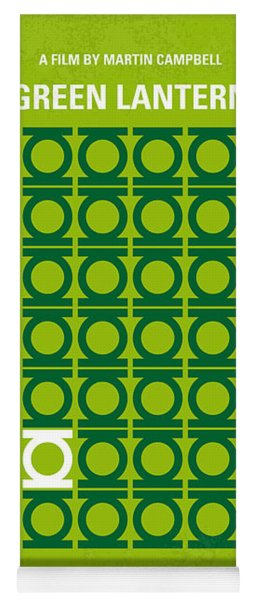 No120 My Green Lantern Minimal Movie Poster Yoga Mat