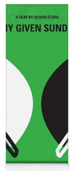 No420 My Any Given Sunday Minimal Movie Poster Yoga Mat
