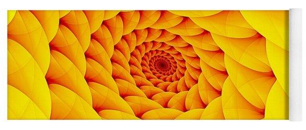 Yellow Pillow Vortex Yoga Mat