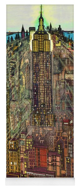 New York Mid Manhattan 1971 Yoga Mat