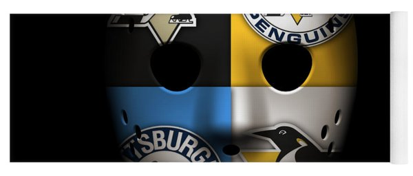 Penguins Goalie Mask Yoga Mat