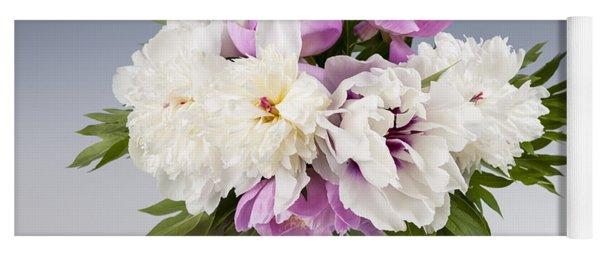 Peony Flower Bouquet Yoga Mat