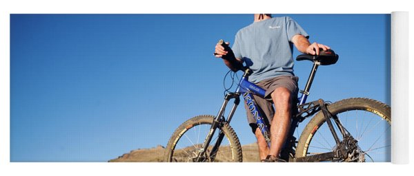 People Riding Mountain Bikes Yoga Mat