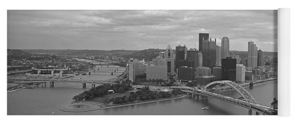 Pittsburgh - View Of The Three Rivers Yoga Mat