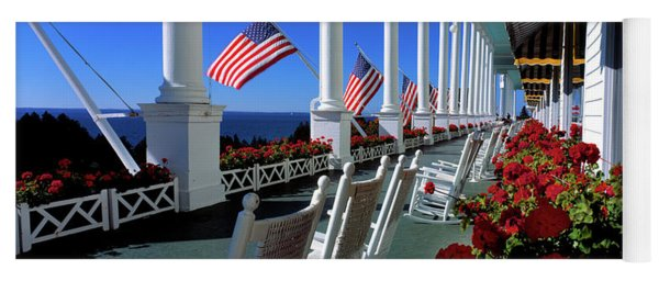 Porch Of The Grand Hotel, Mackinac Yoga Mat