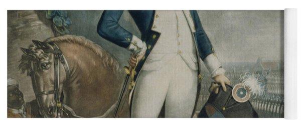 Portrait Of The Marquis De La Fayette Yoga Mat