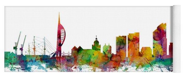 Portsmouth England Skyline Yoga Mat