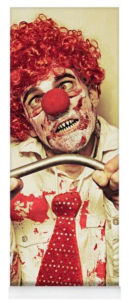 Possessed Horror Clown With Supernatural Strength Yoga Mat